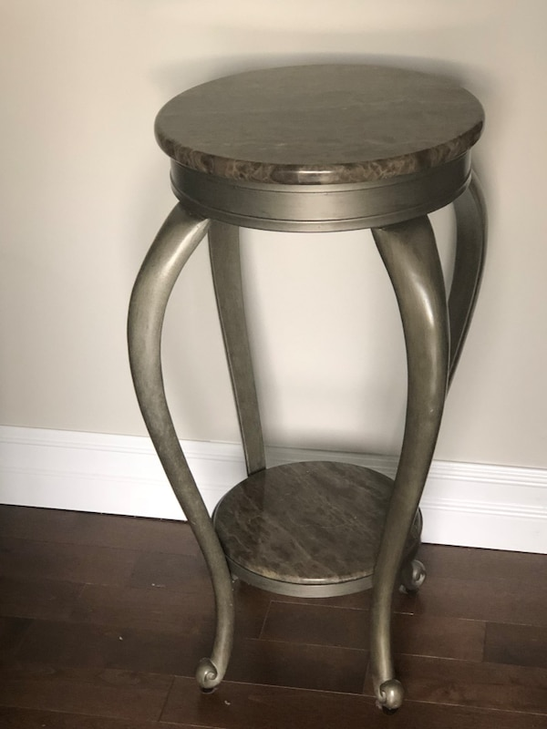 Pair of Granite surface Plant Stands/End Tables
