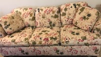 white and red floral 3-seat sofa Carson, 90745