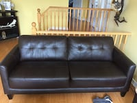 Brown leather couch Waterloo, N2T 1V2