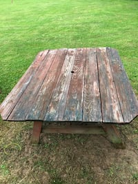 Wood Picnic Table with 2 benches