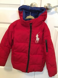 Boys Ralph Lauren polo coat with hood size 4T Smithtown