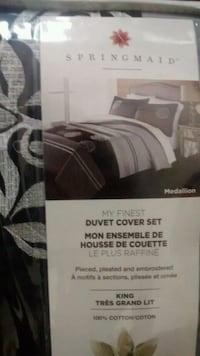 gray and brown Spring Maid duvet cover set Innisfil, L9S 2K7