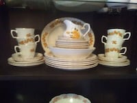 white and blue ceramic dinnerware set Sherwood Park, T8A