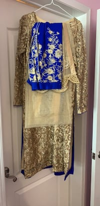 women's brown and blue long sleeve dress Whitby, L1M 0A4