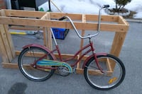 Red vintage lowrider bicycle