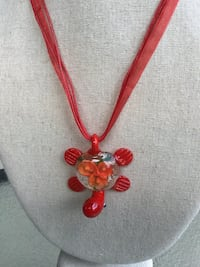 New Red Glass Turtle Pendant Necklace Chesapeake, 23320