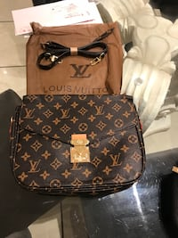 brown and black Louis Vuitton leather backpack Côte-Saint-Luc, H4V 2T8