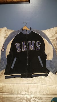 gray and black RAMs zip-up jacket Fort Washington, 20744