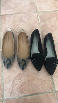 Pair of black and gray flats Size 8 Vancouver, V6Z 2B7