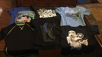 Six assorted print t-shirts boys sizes s-m Harwood Heights, 60706