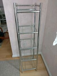 Chrome frame glass shelf unit. Westminster, 21158