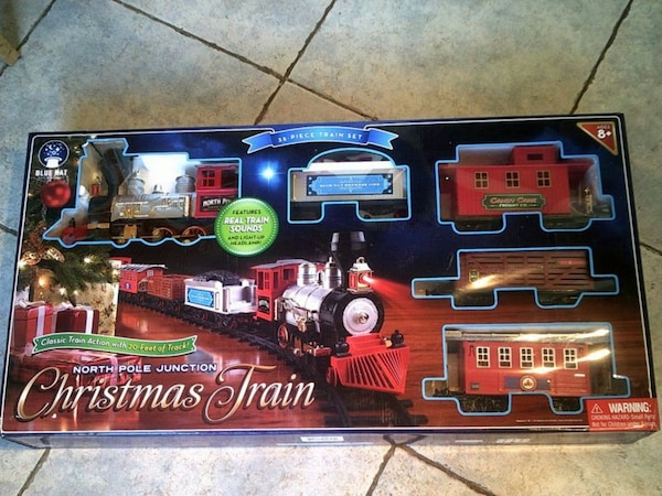 34 piece north pole train set - North Pole Junction Christmas Train
