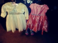 toddler's two pink and white dresses Shelbyville, 46176