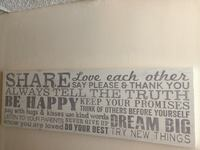 Themed print on canvas rustic washed grey**PPU** Richmond, V7A 1H2