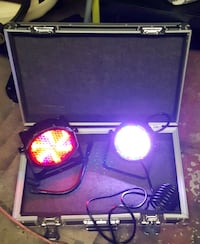 Stage/ Party lights w/road runner case