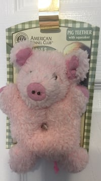 Pink pig teeter with squeaker plush toy Edmonton, T5T