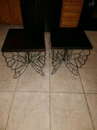 Set of Butterfly end tables, like new