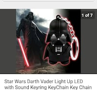 Star Wars Darth Vader Light Up LED key chain