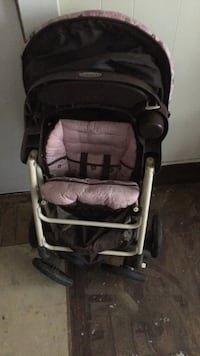 Baby's brown and pink stroller Laurel, 39440