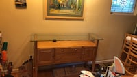Brown wooden dresser with glass top Bala Cynwyd, 19004