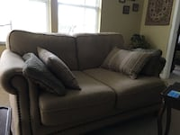 white fabric 2-seat sofa Woodbridge, 22193
