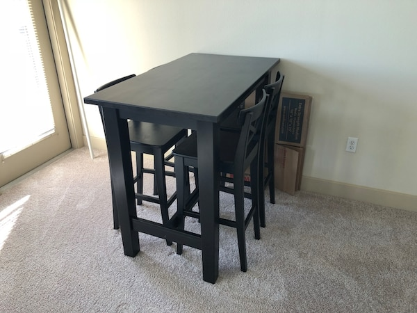 Ikea Stornas Bar Table And 4 Ingolf Chairs