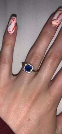 Blue and white diamond ring New Port Richey, 34655