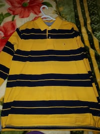 Tommy Hilfiger yellow/black long sleeve SIZE LARGE