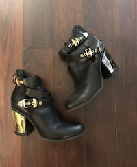 Ankle boots with gold details