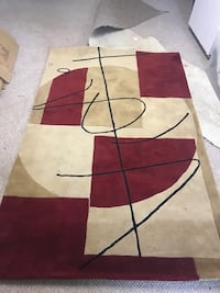 red, white, and black area rug Columbus, 43230