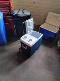 two blue and white plastic containers Thorold