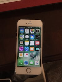 gold iPhone 5s with case 140 mi