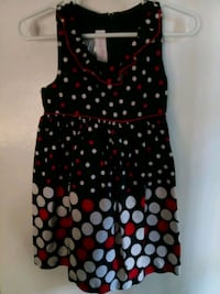Girl's black red and white polka dot dress Houston, 77080