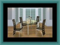 Glass dining table with 4 chairs UNIVERSITY PA, 20782