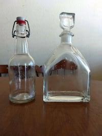 Glass decanter and glass bottle
