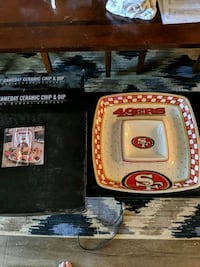 49er chip and dip tray.  West Sacramento, 95691
