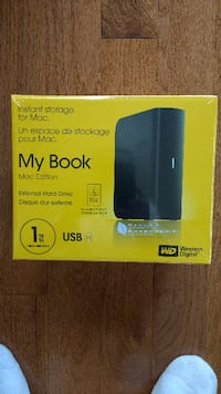 Brand New Western Digital 1TB MyBook Storage for Mac