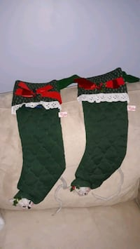 2 Christmas Stockings. Annalee Collectible