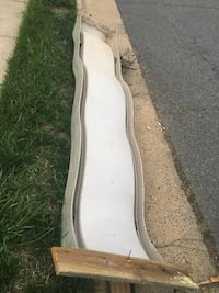 10' wave slide. Although faded but it has no cracks