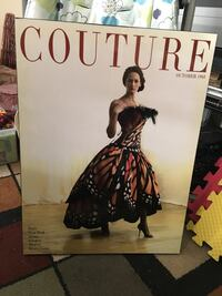 Couture fashion Vintage wall hanging