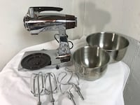 Sunbeam Deluxe Mixmaster Mixer with Accessories Vintage Chrome Liberty Township, 45044