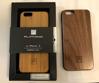 iPhone 6 or 6s genuine bamboo and walnut phone cases covers Bakersfield, 93306