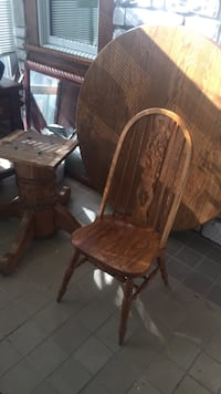 Solid wood table and 6 chairs. Made in the USA