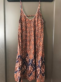 women's brown and blue spaghetti strap dress Long Beach, 90807