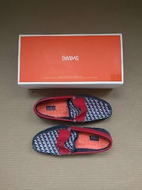 SWIMS PENNY LOAFERS RED BLUE WHITE MEN SIZE 7 Kirkland, H9H 4Z7