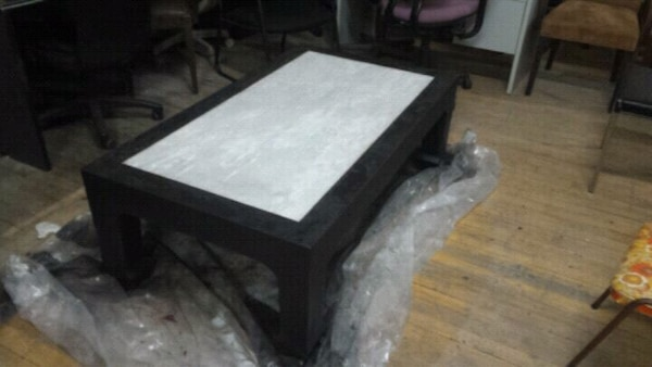 Accent Table with Marble Inlay