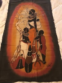 Beautiful African Batik Hand Painting on Canvas Toronto, M5J 1J1