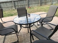 BLACK PATIO TABLE AND 4 CHAIRS Tyler, 75703