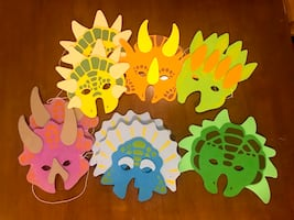 Foam Dinosaur Masks - $0.50 each or $4 for all (9 qty)