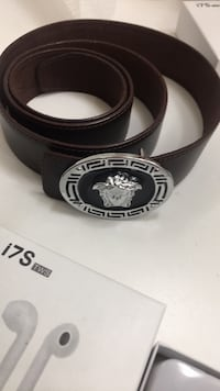 Brown leather Versace belt Newport News, 23602